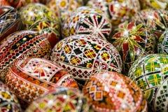 Huevos de Pascua pintados Imágenes de archivo libres de regalías