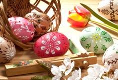 Huevos de Pascua pintados Foto de archivo libre de regalías