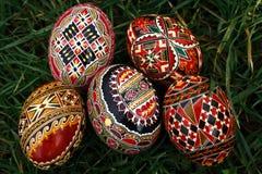 Huevos de Pascua pintados 12 Fotografía de archivo libre de regalías