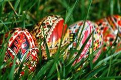 Huevos de Pascua pintados 17 imagen de archivo