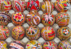 Huevos de Pascua pintados Imagen de archivo libre de regalías
