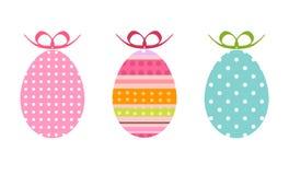 Huevos de Pascua pintados como regalos stock de ilustración