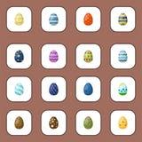 Huevos de Pascua pintados con el modelo de la primavera libre illustration