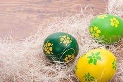 Huevos de Pascua pintados a mano Foto de archivo libre de regalías
