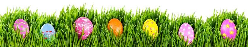Huevos de Pascua pintados a mano imagen de archivo