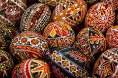 Huevos de Pascua pintados rumano Foto de archivo