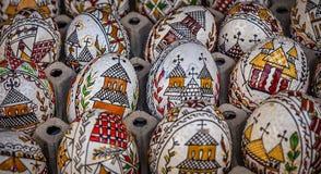 Huevos de Pascua pintados tradicionales Fotografía de archivo libre de regalías