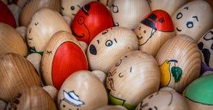 Huevos de Pascua pintados tradicionales Imagen de archivo libre de regalías