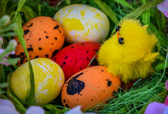 Huevos de Pascua pintados tradicionales Imagen de archivo