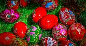 Huevos de Pascua pintados tradicionales Fotografía de archivo