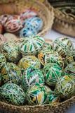 Huevos de Pascua pintados tradicionales rumanos Fotos de archivo libres de regalías