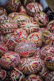 Huevos de Pascua pintados tradicionales rumanos Imagen de archivo libre de regalías