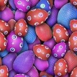 Huevos de Pascua punteados (textura inconsútil) Foto de archivo
