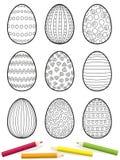 Huevos de Pascua que colorean la imagen