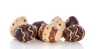 Huevos de Pascua rayados y punteados Foto de archivo libre de regalías