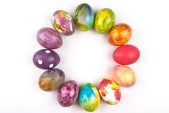 Huevos de Pascua redondos Fotografía de archivo