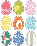 Huevos de Pascua retros fijados Imágenes de archivo libres de regalías