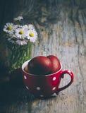 Huevos de Pascua rojos Imagen de archivo