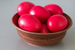 Huevos de Pascua rojos Fotografía de archivo
