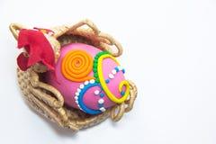 Huevos de Pascua rosados Fotografía de archivo