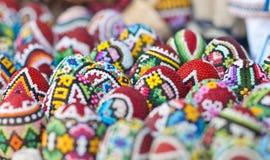 Huevos de Pascua rumanos tradicionales Fotografía de archivo libre de regalías