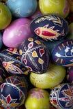 Huevos de Pascua rumanos tradicionales Foto de archivo libre de regalías