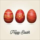 Huevos de Pascua Tarjeta de felicitación del día de fiesta Fotografía de archivo libre de regalías