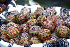 Huevos de Pascua tradicionales Imágenes de archivo libres de regalías