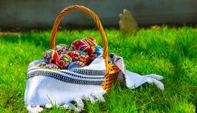 Huevos de Pascua tradicionales imagenes de archivo