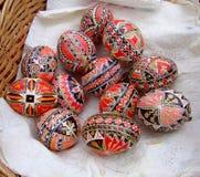 Huevos de Pascua tradicionales Fotos de archivo libres de regalías