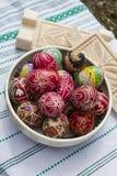 Huevos de Pascua tradicionales imagen de archivo libre de regalías