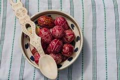 Huevos de Pascua tradicionales fotografía de archivo libre de regalías