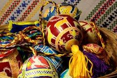 Huevos de Pascua tradicionales del ucraniano Imagenes de archivo