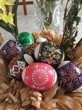 Huevos de Pascua ucranianos fotografía de archivo