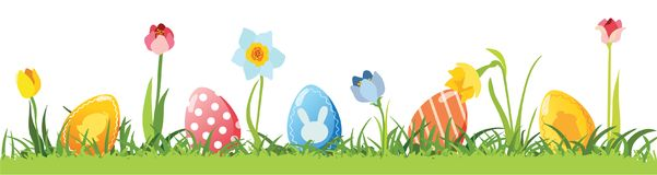Huevos de Pascua, vector Imagen de archivo libre de regalías