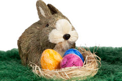 Huevos de Pascua veteados coloridos hermosos foto de archivo
