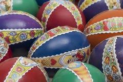 Huevos del éster con el detalle de la decoración Foto de archivo libre de regalías