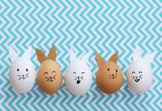 Huevos del conejito de pascua Imágenes de archivo libres de regalías