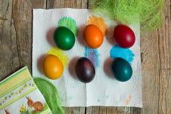 Huevos del día de fiesta de Pascua imagenes de archivo