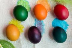 Huevos del día de fiesta de Pascua foto de archivo