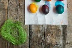 Huevos del día de fiesta de Pascua imagen de archivo