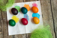 Huevos del día de fiesta de Pascua fotos de archivo libres de regalías
