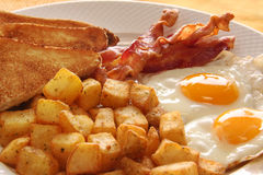 Huevos del desayuno. Imágenes de archivo libres de regalías