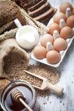 Huevos del desayuno y honay Imagen de archivo libre de regalías