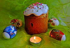 Huevos del este coloreados Foto de archivo libre de regalías