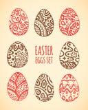 Huevos del este del bosquejo fijados Ilustración del vector Fotografía de archivo