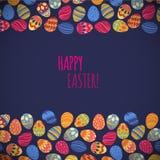 Huevos del este Ilustración del vector Modelo del vector con los huevos coloridos Imagen de archivo