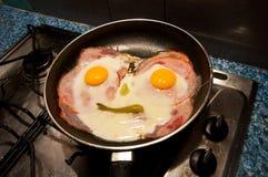 Huevos del extremo del jamón Imagen de archivo libre de regalías