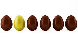 Huevos del oro y de chocolate de Pascua stock de ilustración