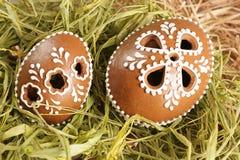 Huevos del pan de jengibre de Pascua fotos de archivo libres de regalías